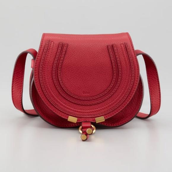 6b440b617d Chloe Bags   Soldch Mini Marcie Red Leather Crossbody Bag   Poshmark